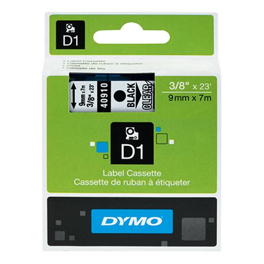 Schriftband Dymo, 9mm, s/tra