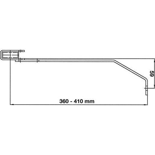 Wandanker 360-410 mm für Edelstahl-Leite