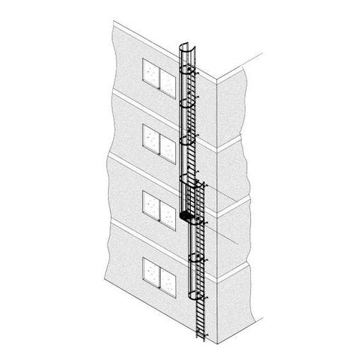 Zarges Mehrzügige Steigleiter, Aluminium, eloxiert