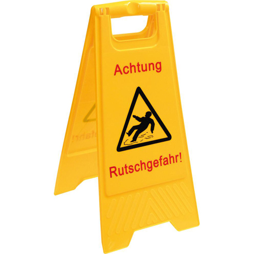 Warnschild Rutschgefahr signalgelb